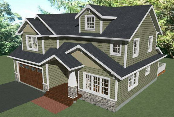 New two story house