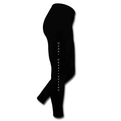 Under Construction Logo Leggings Black - Leggings by American Apparel (Black