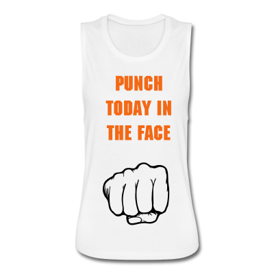 """UC Women's """"Punch Today in the Face"""" Flowly Muscle Tank Top"""