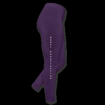 Under Construction Logo Leggings - Leggings by American Apparel Purple