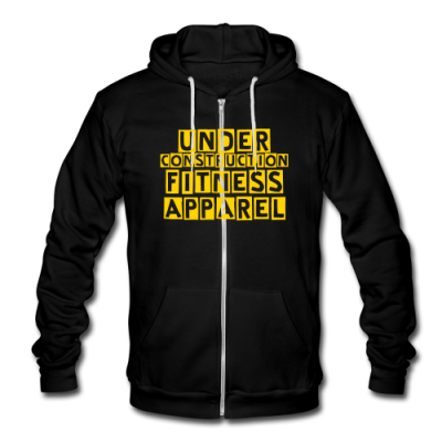 Under Construction Fitness Apparel Unisex Fleece Zip Hoodie by American Apparel
