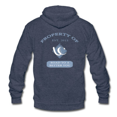Property Of UC Fitness Tri Blend Zip Up Hoodie