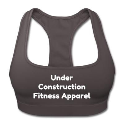 UC Women's Sports Training Bra By American Apparel (Gray/White Lettering)