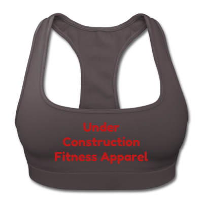 UC Women's Sports Training Bra By American Apparel (Gray/Red lettering)