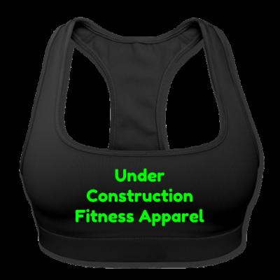 UC Women's Sports Training Bra By American Apparel (Black/Green lettering)