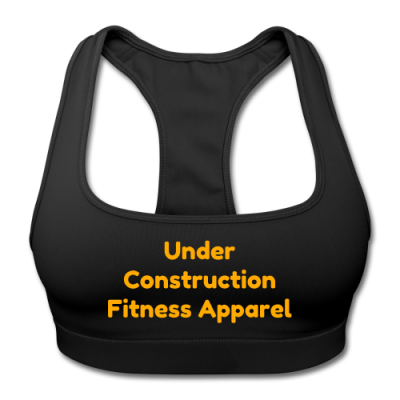 UC Women's Sports Training Bra By American Apparel (Black/ Orange Lettering)