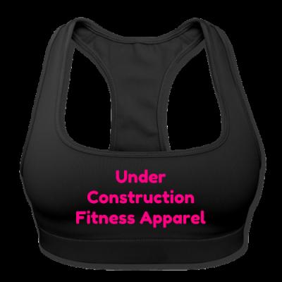 UC Women's Sports Training Bra By American Apparel (Black/ Pink Lettering)