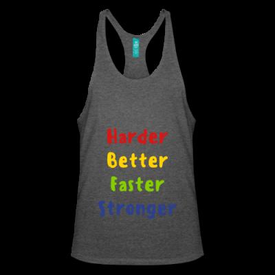 Harder, Better, Faster, Stronger Men's Stringer Tank Top