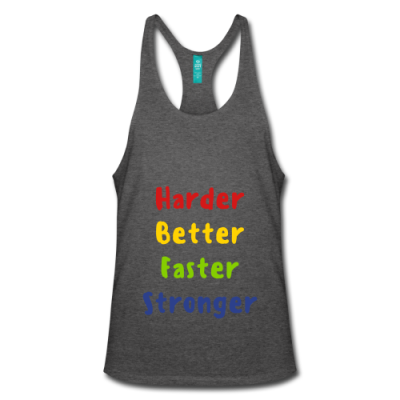 Harder, Better, Faster, Stronger Men's Stringer Tank Top