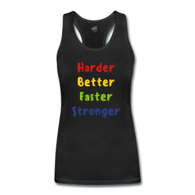 Harder, Better, Faster, Stronger Women's Bamboo Performance Tank by ALL Sport