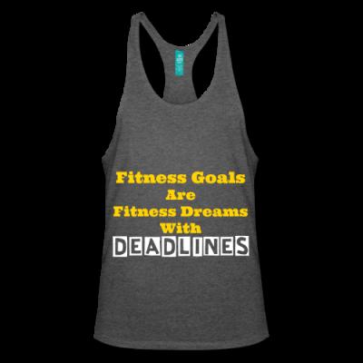 Fitness Goals - Deadlines Stringer Tank Top
