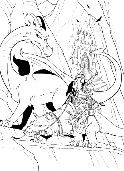 The Dwarves of Roegudok Hall - The First Dragon Scale Comic!