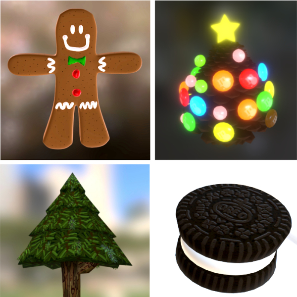 cookie, oreo, candy, gingerbread, pine, tree, star,