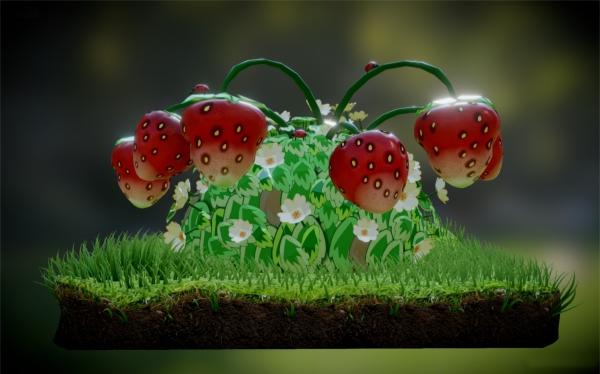 fruit, plant, grass,