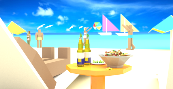 geometric, low-poly, food, mexico, beer, corona, nachos