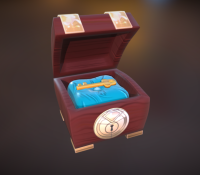 Magical Ruby Key Chest