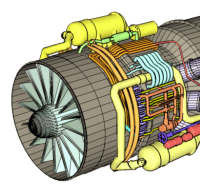 Isometric Airplane Engine