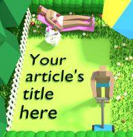 Title Illustration Underlay - Mowing Lawn