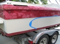 Design a half circle on the back hull before paint