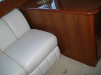 50 ft Ocean Yacht interior wood restoration