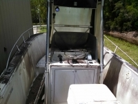 24ft Angler 1984 before complete boat restorations