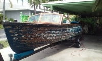 1954 Lymen wooden boat Complete restoration before work started.