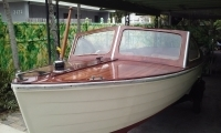 1954 Lymen wooden boat completely restored and finished.