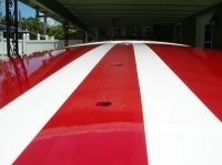 Racing finished stripes on deck