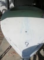 First coat of primer on boat