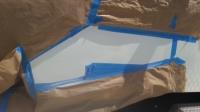 Sea Foam green spray over gel coat repair