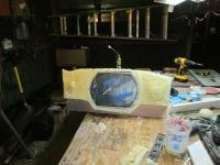 Custom fabrication of a ski boat inlay speaker boxes foam start