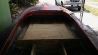 Speed boat needs floor fiber glassed before pic