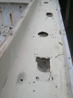 Upper rail damage  before work