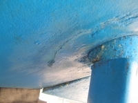 Rudder Damage before pic