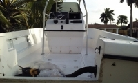 Enclose Angler Transom before pic