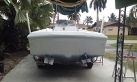 Finished Boat enclosed transom