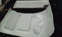 Bentley Kit car Mold project gel coat application
