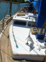 Wood restoration sail boat