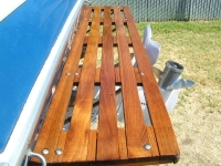 Teak swim platform fresh teak oil