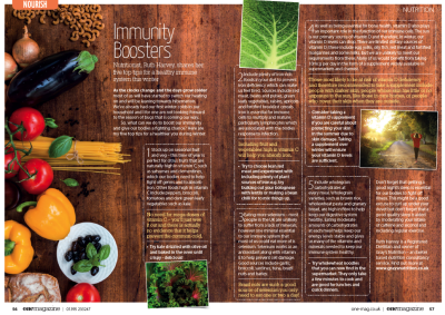 Immunity Boosters in Devon's One Magazine