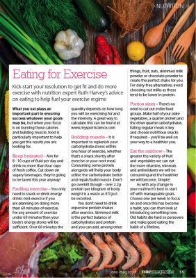One Magazine Nutrition Article