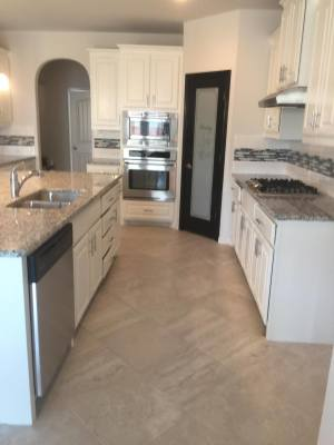 Kitchen remodel, Cabinet painting
