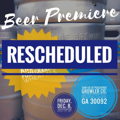 BEER PREMIERE: RESCHEDULED