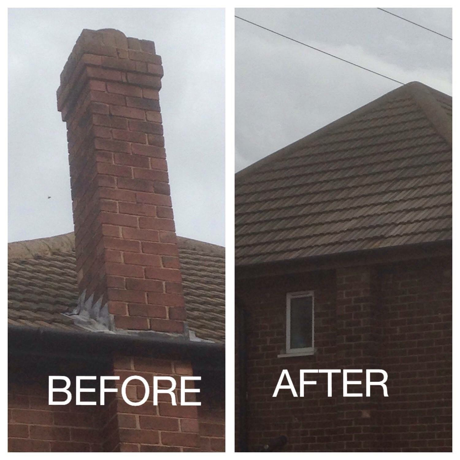 Removal of chimney