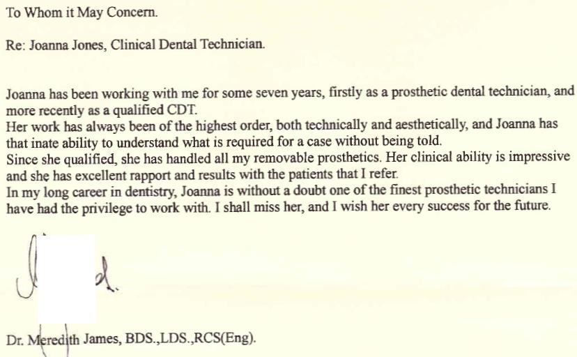 Dentist feedback - great collaboration