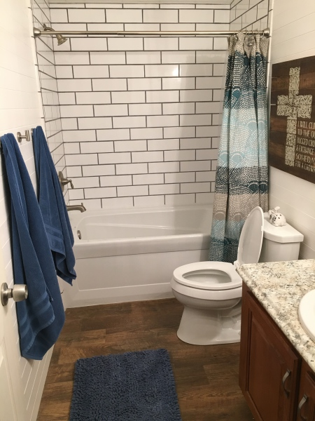 Toilet, tub, and shower installation