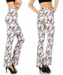 Multicolored triangle softbrush flare leggings