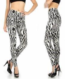 Soft brush zebra softbrushed leggings