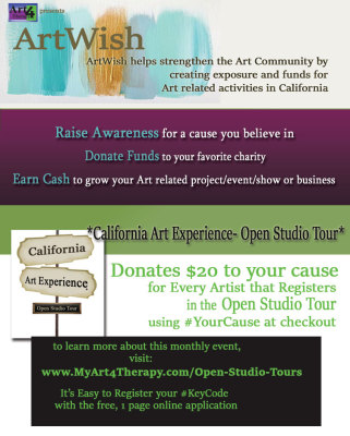 www.MyArt4Therapy.com presents ArtWish, a financial resource for the Art Community in California.