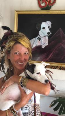 Meet Christa Galactica, Creator of: Divine K-9 Galactivated Pet Portraits.